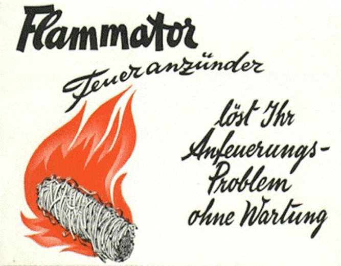 Bestellkarte 1940 Firma Swissflame