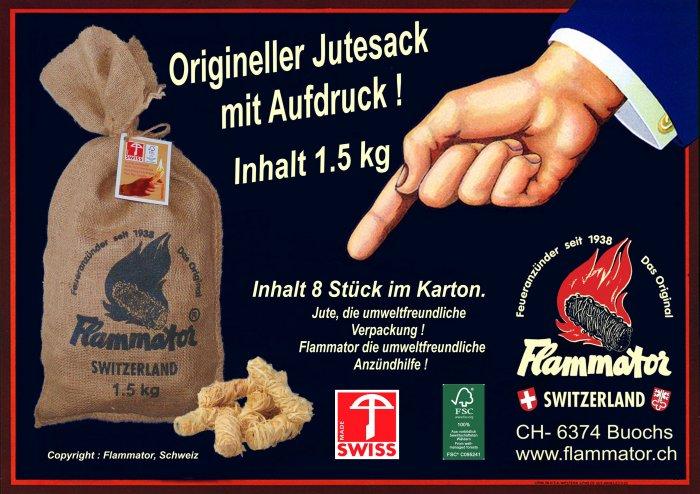 Produkte Flammator Jutesack