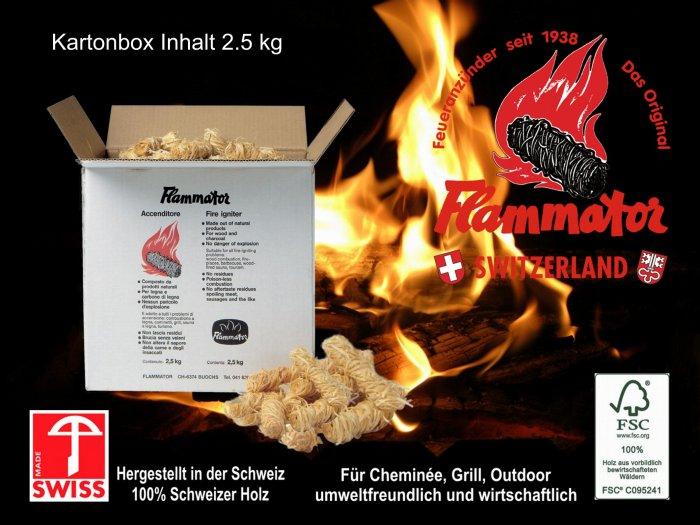 Produkte Flammator Swissflame Schachtel